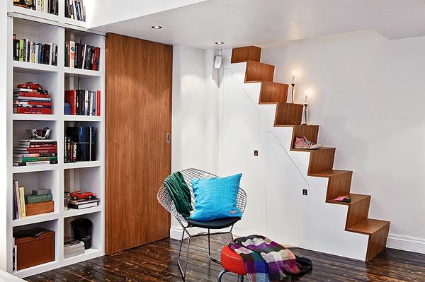 petit appartement suedois escalier