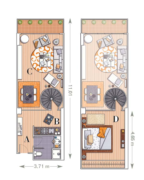 plan construction loft