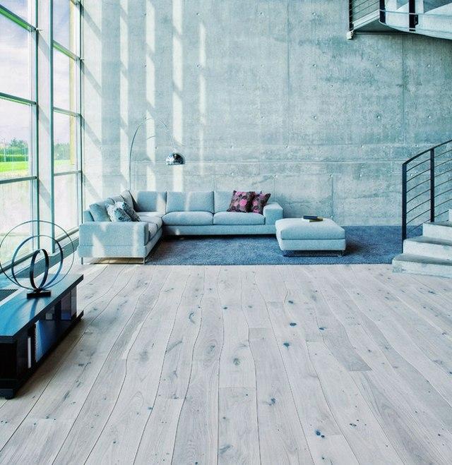 plancher bois massif salon