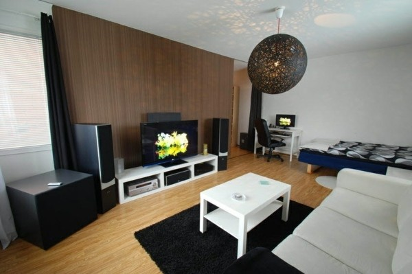 salon dans petit appartement design