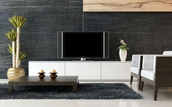 salon design gris blanc