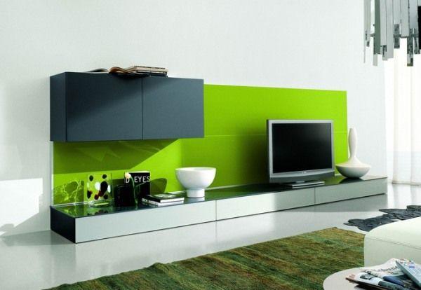salon gris vert moderne original
