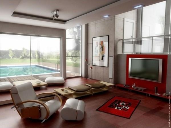 salon minimaliste mobilier moderne