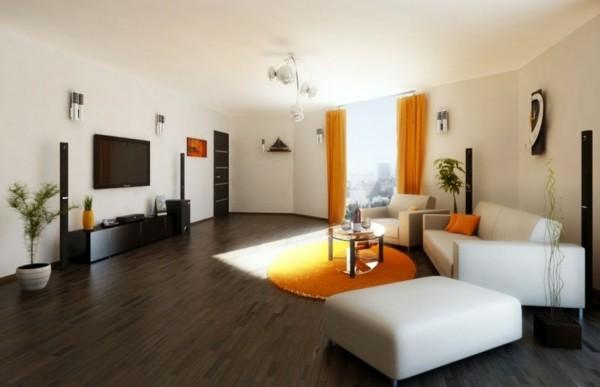 salon touche orange noire