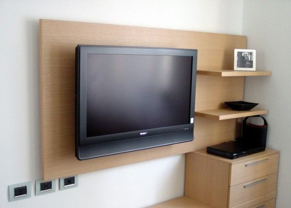 télé meuble design salon bois