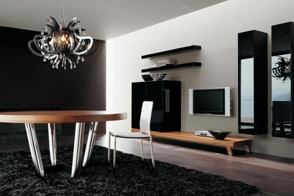 table bois massif pieds acier