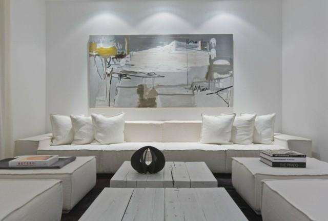 décoration blanche moderne