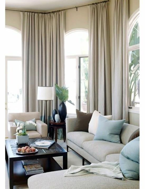 décoration salon gris plantes