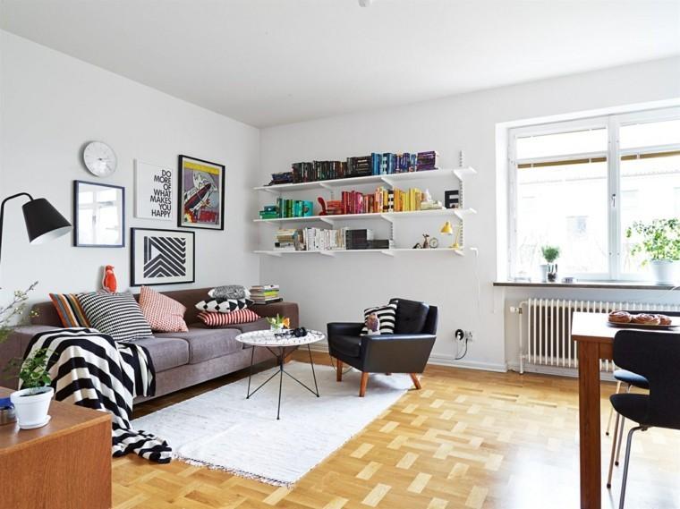 design scandinave canapé gris coussins design tapis