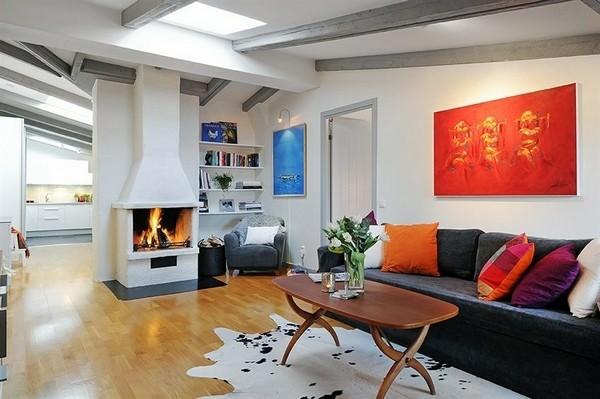 decoration sacndinave cheminée design