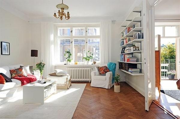 design scandinave salon déco blanc