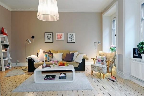 design scandinave salon déco bois