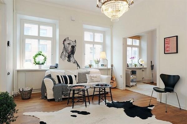 design scandinave 49 salons avec d coration scandinave decoration salon. Black Bedroom Furniture Sets. Home Design Ideas