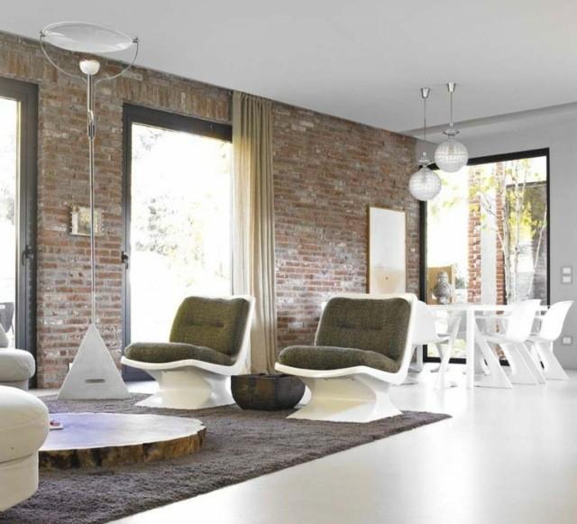 idée déco bricks fauteuils