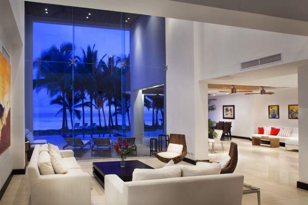 salon contemporain ouvert intérieur