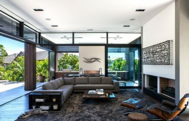 salon gris moderne elegant