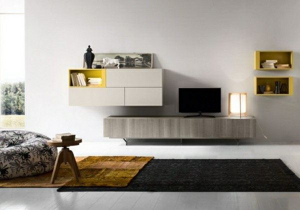 amenagement salon meuble tele deco