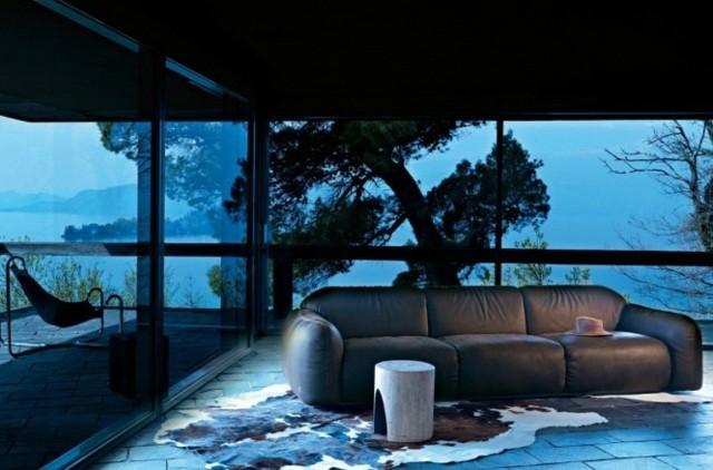 ameublement salon moderne canape cuir