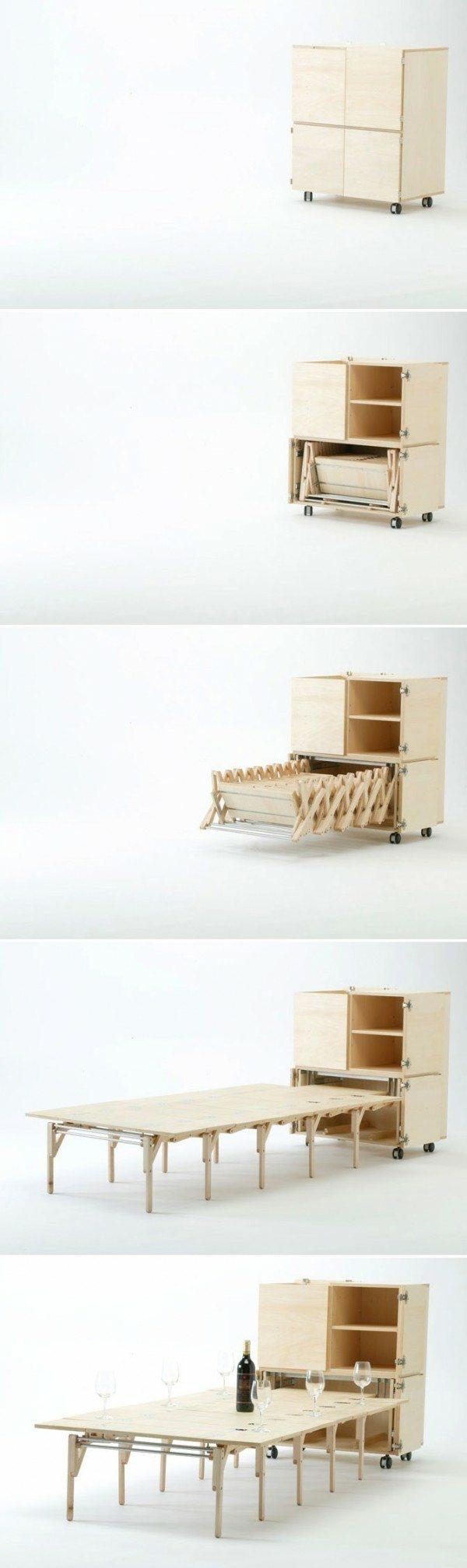 armoire bois table manger Nobuhiro Teshima