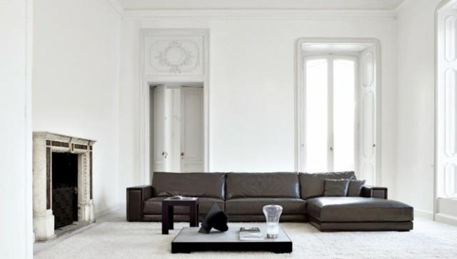 canape cuir salon deco moderne