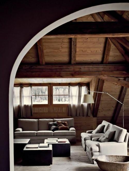 chalet architecture montagne arc bois fenetre