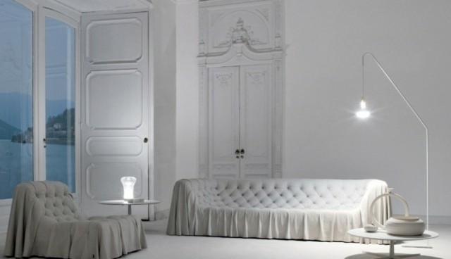 deco salon chic blanc canape moderne