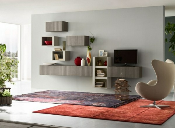 deco salon contemporain meuble tele
