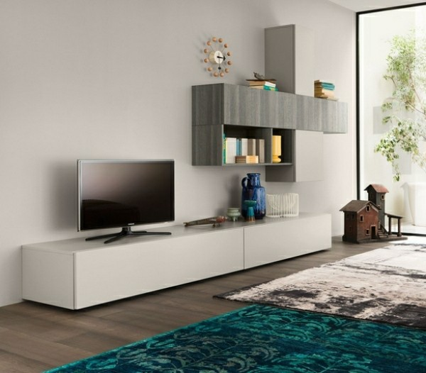 idee meuble télé design bois