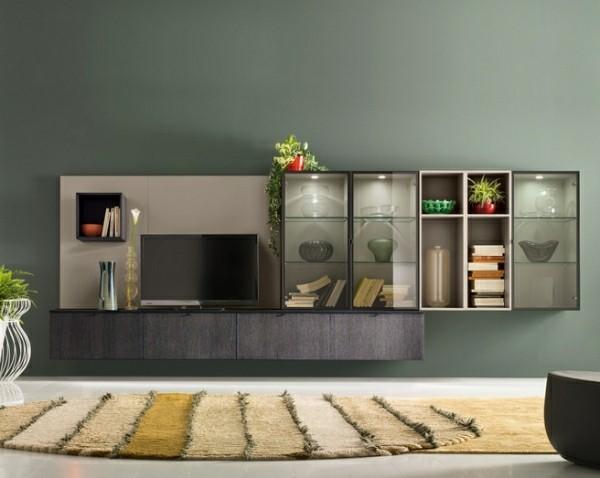 meuble tv vitré deco design