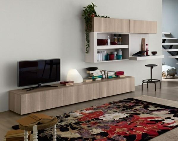 meuble télé design original bois