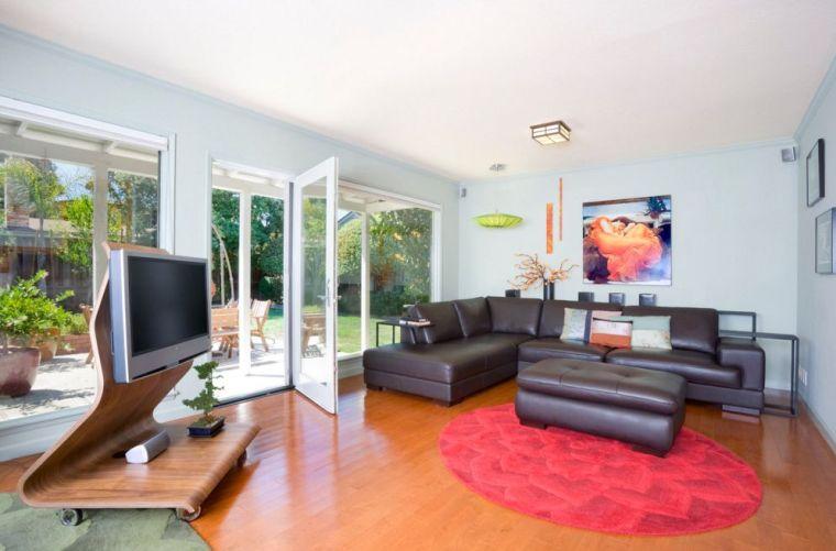 meubles télé bois salle de sejour moderne