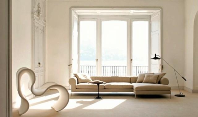 salon deco minimaliste canape