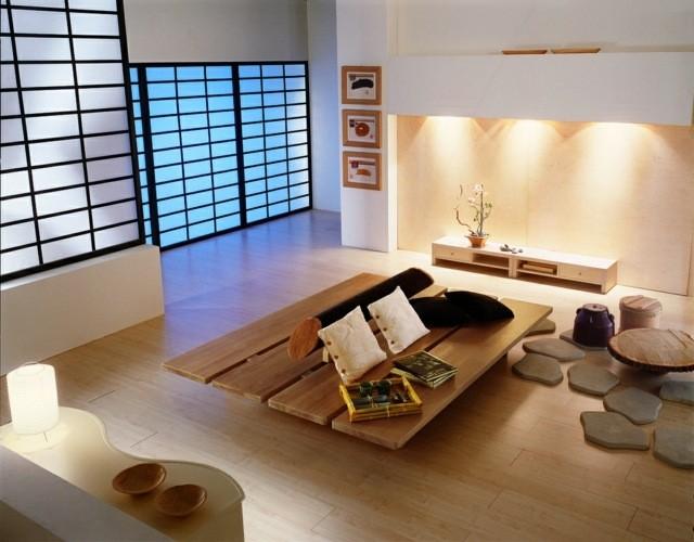 salon moderne deco japonais