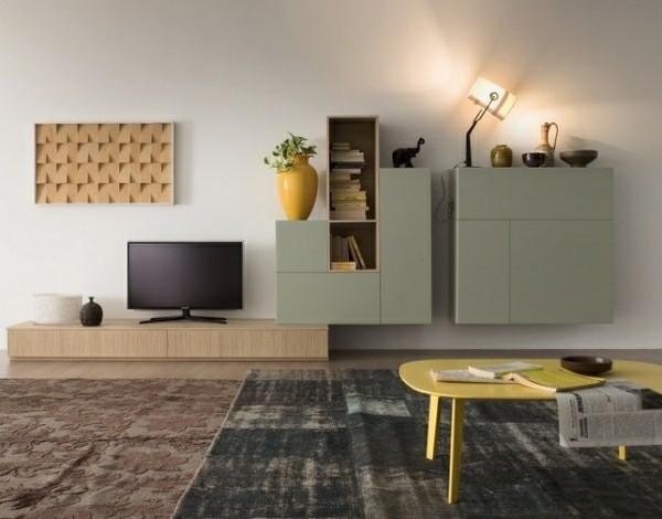 sejour moderne deco meuble tv integre