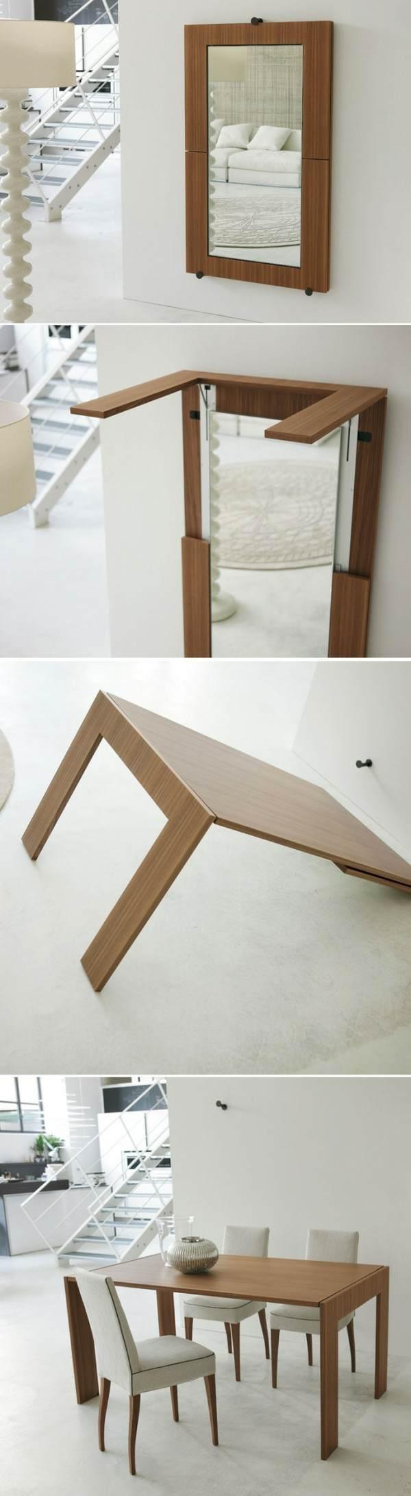 table manger deco miroir design