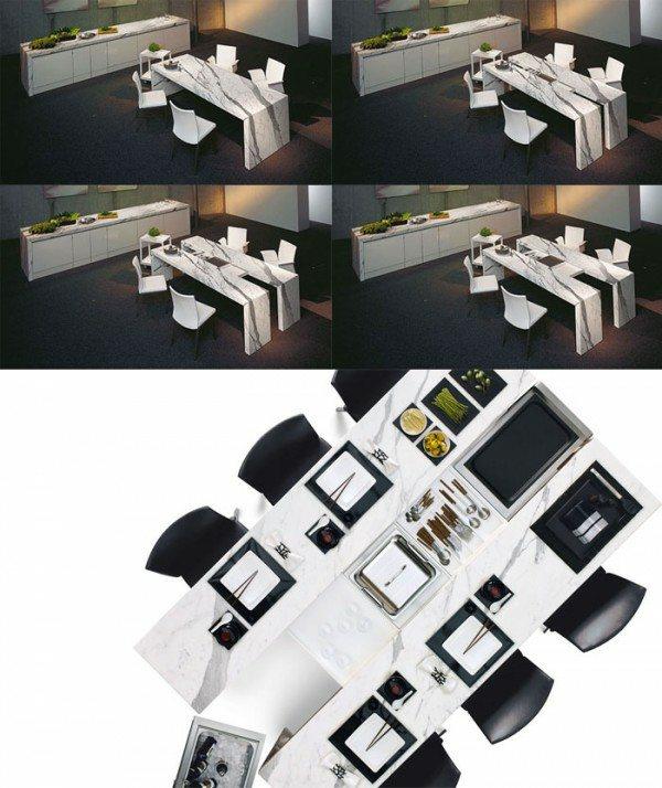 table design noir blanc Draenert