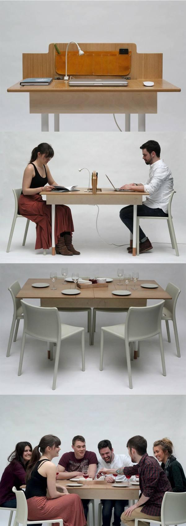 table manger bois contemporaine Daniel Liss Design