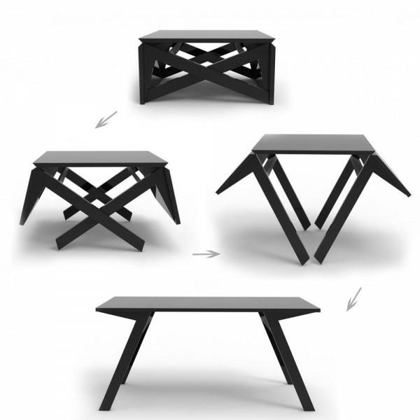 table manger design moderne noire