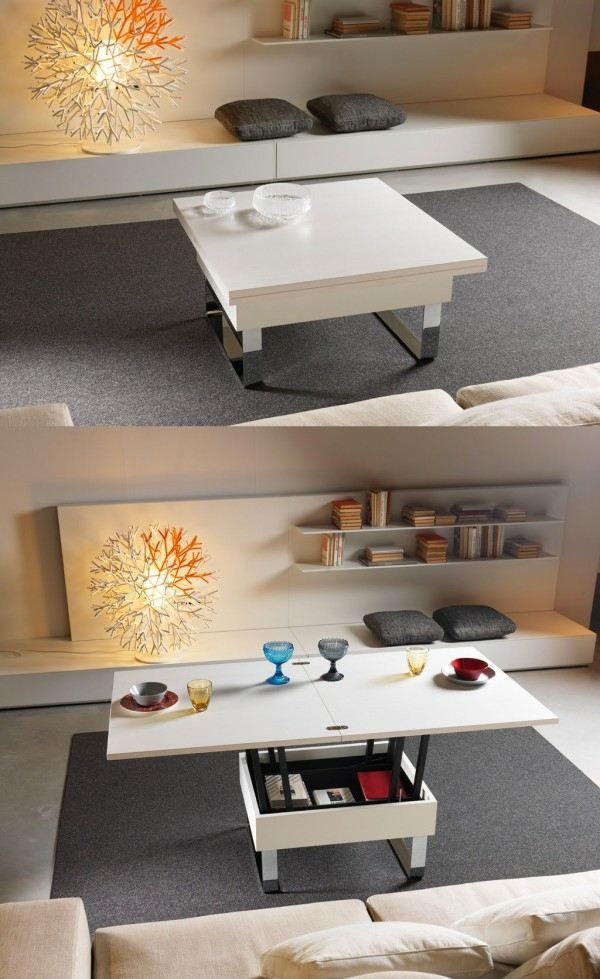 table manger design pliable blanche