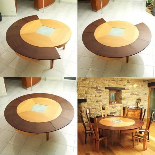 table manger rallonge ronde Braun Woodline