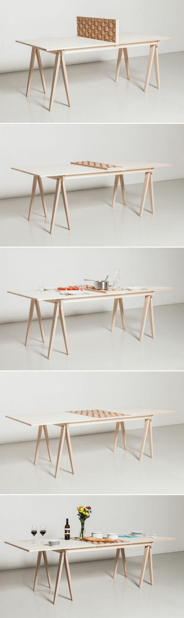 table rallonge bois Gudrun Theodora