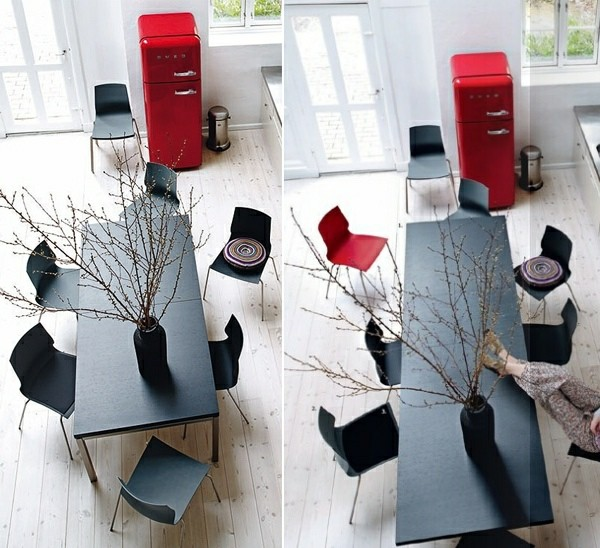 table rallonge bois noire