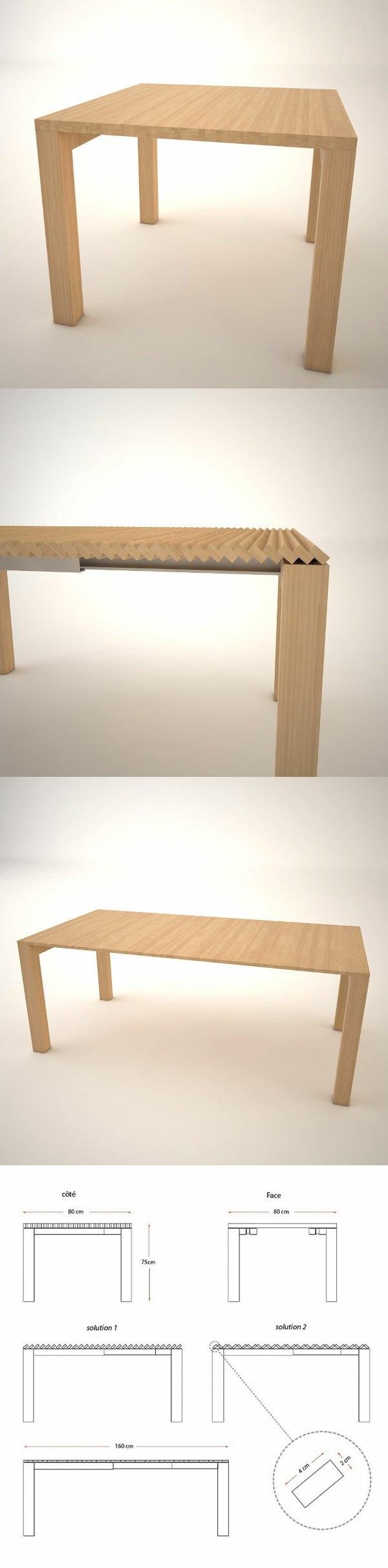 table rallonge design moderne Julien Vidame