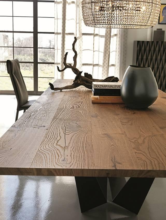 table salon deco bois