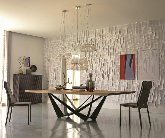 table salon design original bois