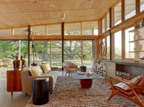 architecture interieur scandinave structure bois vitrage