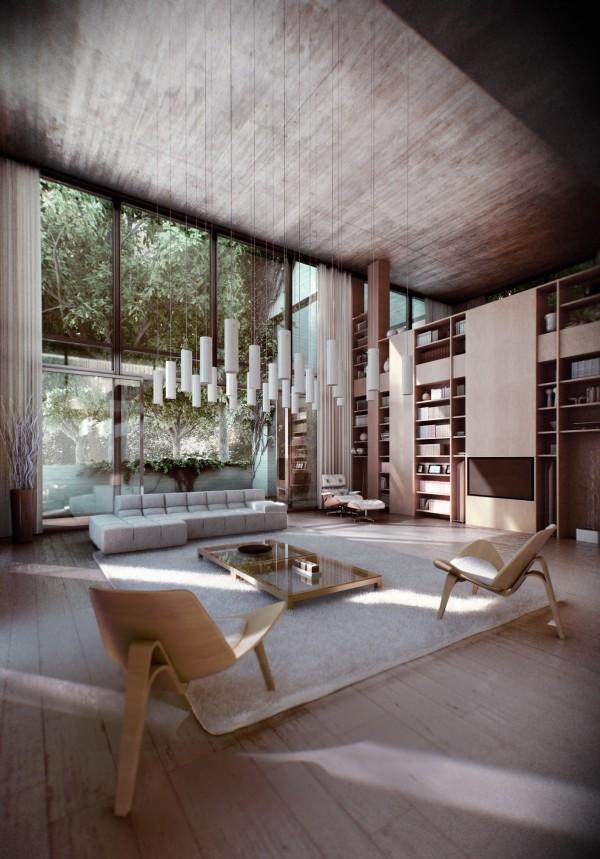chaises design luminaires suspendus table basse