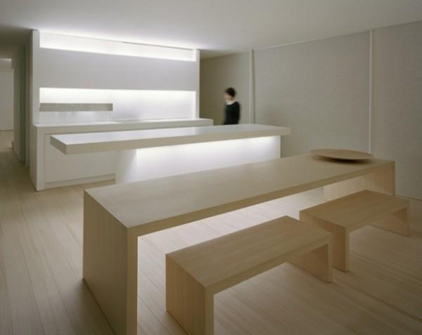 cuisine minimaliste bois japonaise