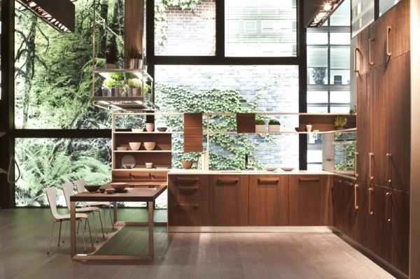 cuisine zen bois spacieuse