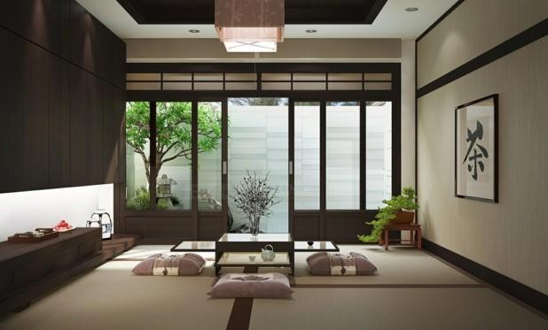 decoration zen salon japonais moderne